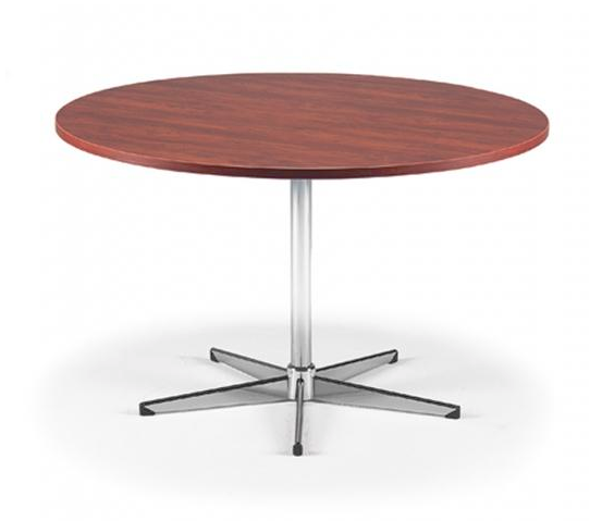 Merlin Round Meeting Table Metal Base