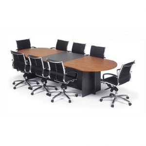 Extendable D-Ended Boardroom Table