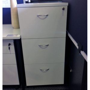 Filing Cabinet 3 Drawer White on SALE
