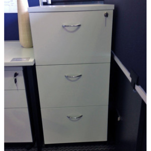 3 Drawer Filing Cabinet White Ironstone
