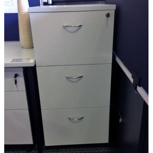 3 Drawer Filing Cabinet White Ironstone