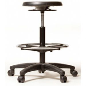 PU Industrial Round Drafting Stool