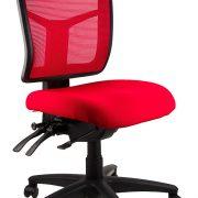 Mirae ergonomic mesh chair red