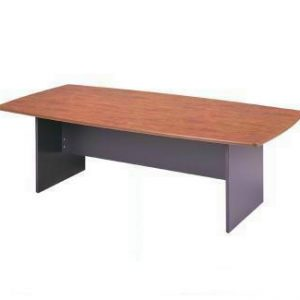 Merlin Boardroom Table Boatshape H-Base