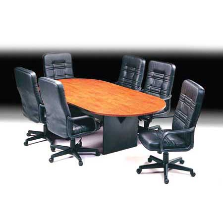 Merlin Boardroom Table D-End - H-Base