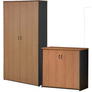 Merlin Stationery Storage Cupboard - Full Door