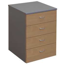 Merlin 4 Drawer Mobile Pedestal