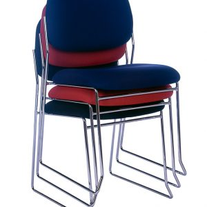 Rod Chrome Frame Visitor Chair