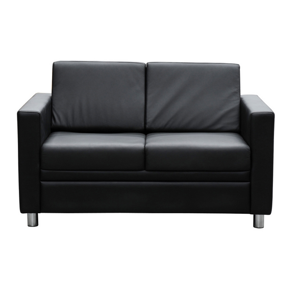 Marcus double seater lounge black leather