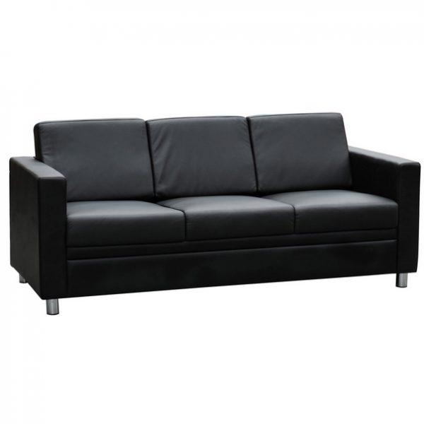 Marcus triple seater lounge black leather