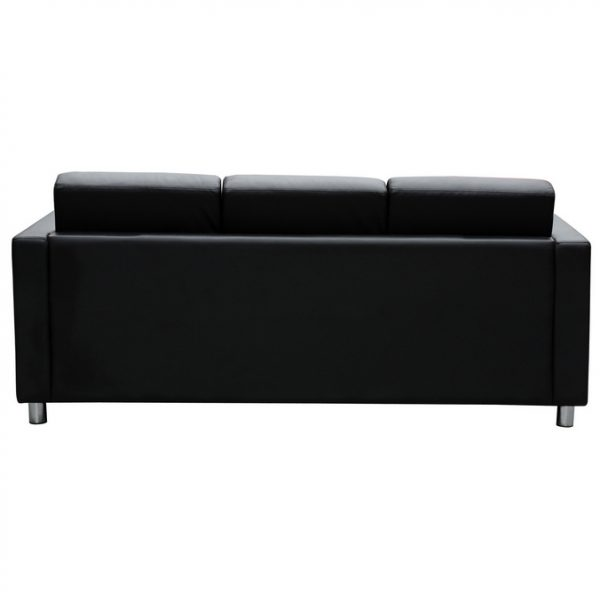 Marcus 3 seater lounge seat black leather