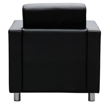 Marcus lounge seat single black leather