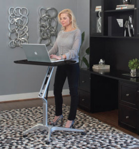 Mobile Sit Stand Desk/Workpad