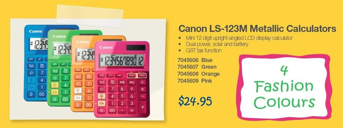 Pretty office stationery - calculators