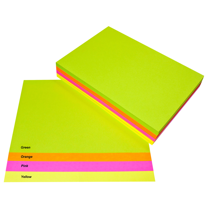 quill fluoro coloured paper A4