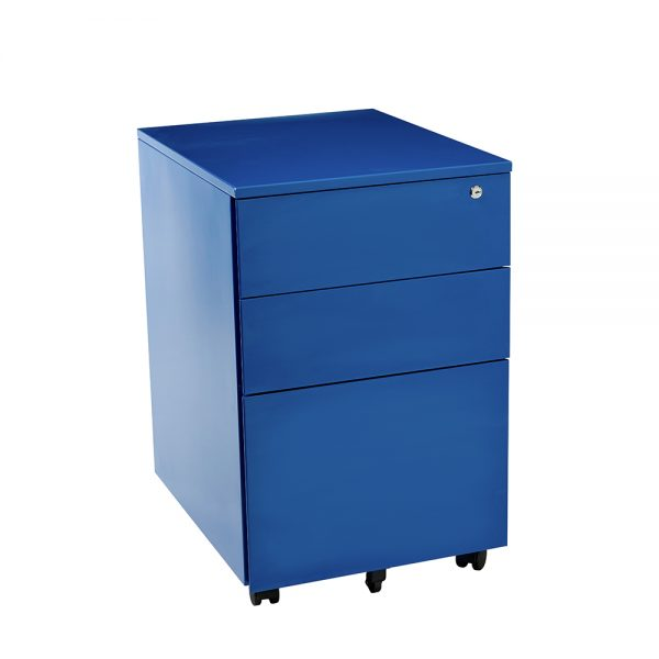 blue mobile drawers