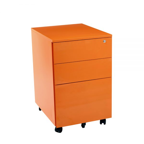 orange mobile drawers
