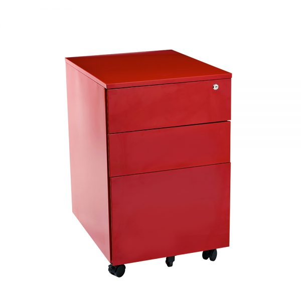 red mobile drawers