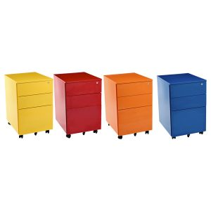 coloured mobile pedestals