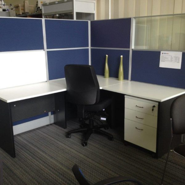 T8 YS Design Partition System Overall 1800 x 1800 x 1650H Navy Blue