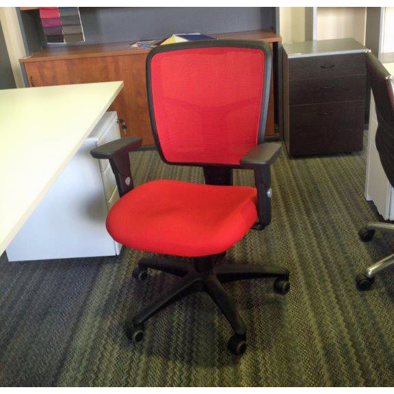 Mesh Mirae Ergonomic Red Office Chair for sale reduced clearance
