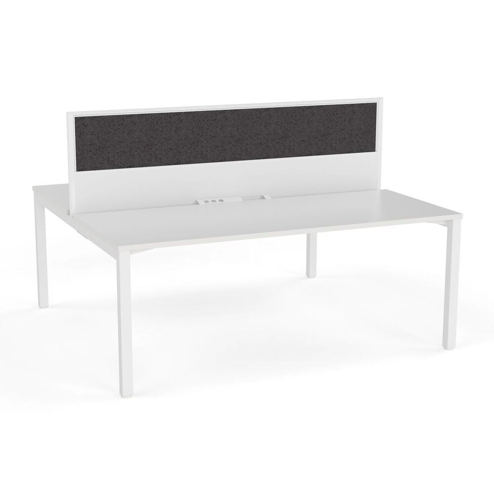 Axis Double Sided Desk with Central Screen Smoke