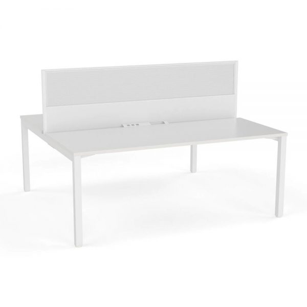 Axis Double Sided Desk with Central Screen Translucent
