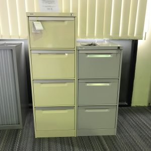 Coform 3 Drawer Filing Cabinet Silver Grey