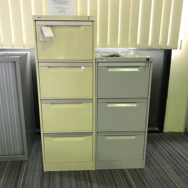 Coform 3 Drawer Filing Cabinet Silver Grey