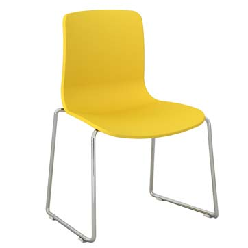 Plastic Visitor Chair in Bright Colours