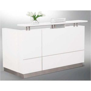 Hugo gloss white reception desk