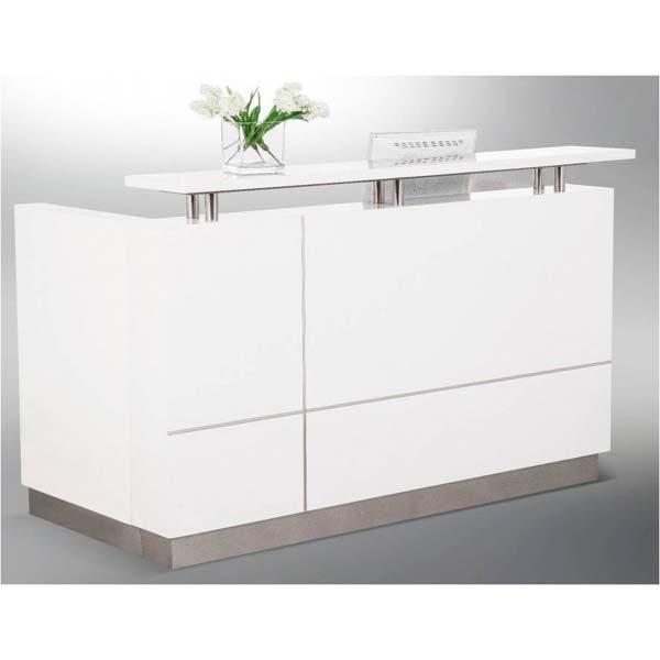 Hugo gloss white reception desk