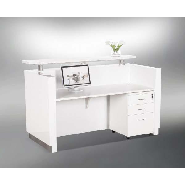 Hugo Reception Desk Gloss White