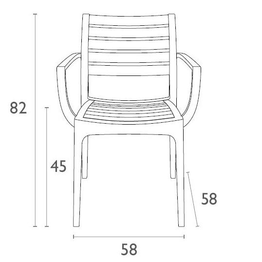 artemis chair by siesta strong fade resistant indoor. Black Bedroom Furniture Sets. Home Design Ideas