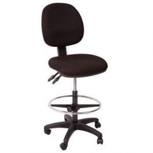 Rapidline Drafting Chair Medium Back Black