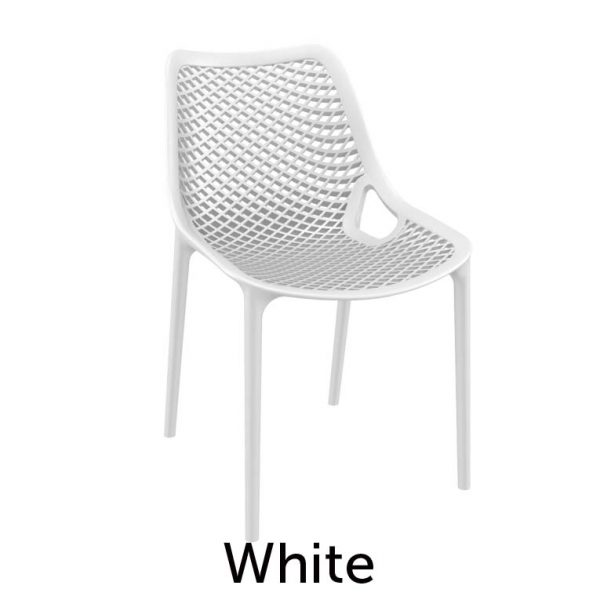 Extra strong hospitality chair white