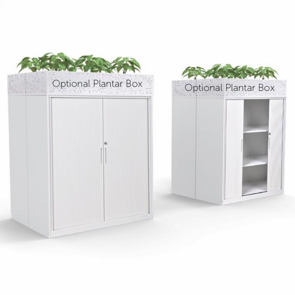 Lunar Metal Tambour Door Cabinet