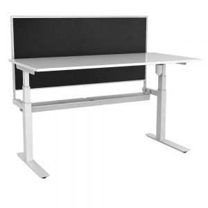 Rapid Paramount Single Open Electric Height Adjustable Workstation 1800 X 750mm – With Screen