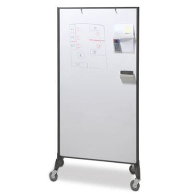 Visionchart Communicate Room Divider Double Sided Whiteboard