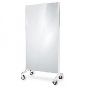 Visionchart Communicate Room Divider White Glassboard / Grey Pinnable