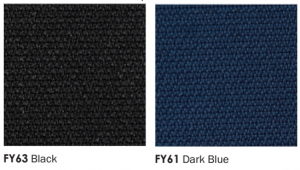buro black and dark blue fabrics