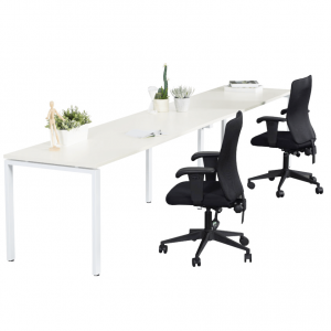 Infinity Workstation Single Sided 2 Person Profile Leg
