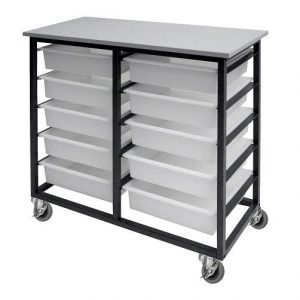 Mobile Tote Box Metal Trolley