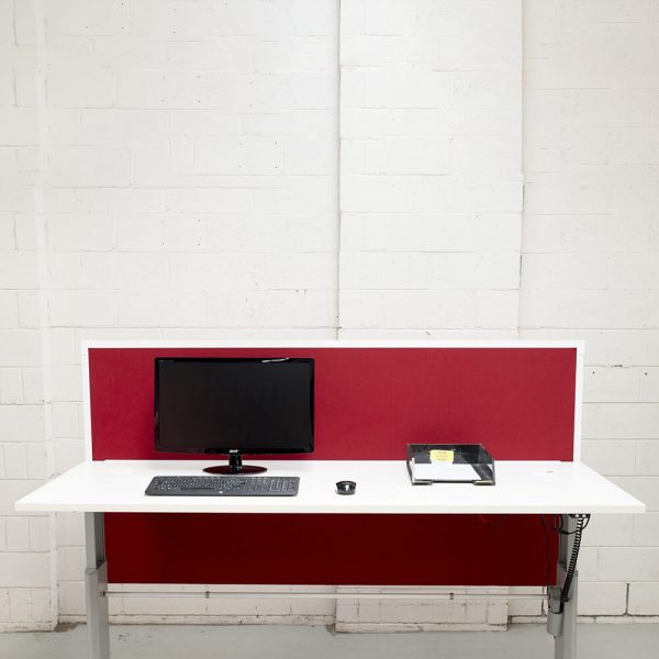 Cantilever Desk Mounted Fabric Partitions