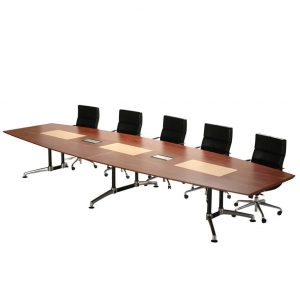 Vantage Boat Shaped Boardroom Table