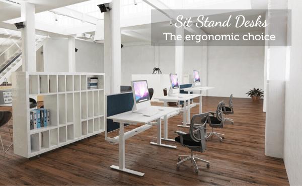 Sit Stand Height Adjustable Desks