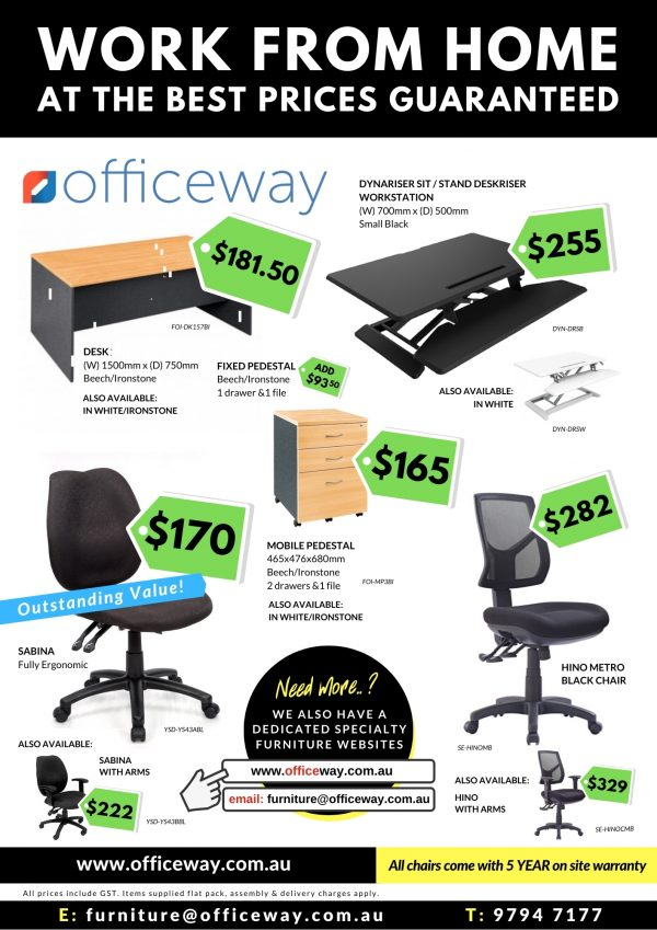 Officeway Work From Home Furniture Bundle